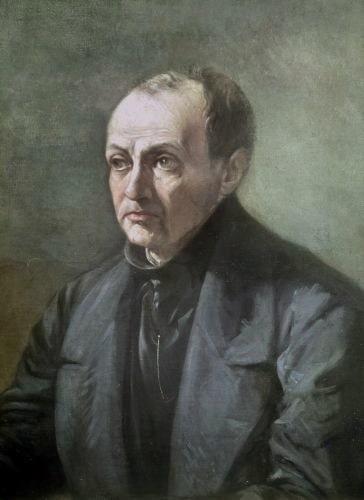 Retrato de Auguste Comte, el gran exponente del positivismo histórico
