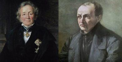 von Ranke y Augusto Comte, exponentes del historicismo y el positivismo histórico