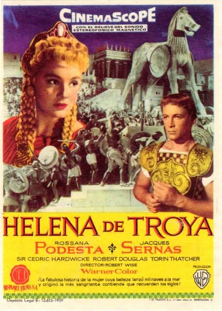"""Uno de los carteles promocionales de la película """"Helena de Troya"""""""