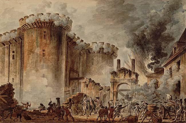 La toma de la Bastilla, de Jean Pierre Houël, sobre el origen de la revolución francesa