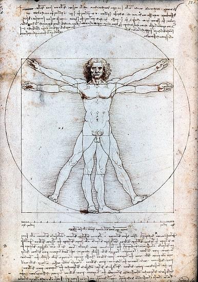 Hombre de Vitruvio, de Leonardo da Vinci