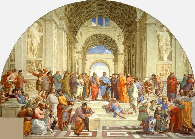 La escuela de Atenas, inspiración para el Humanismo