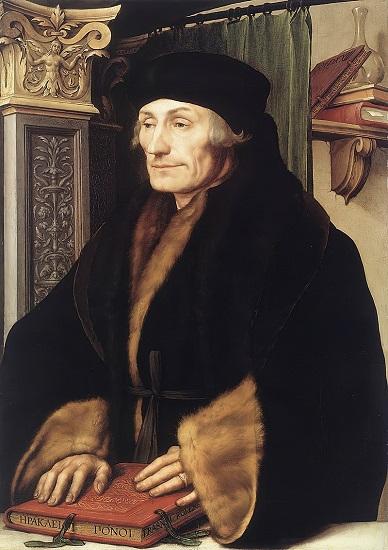 Retrato de Erasmo de Róterdam (1523) por Hans Holbein el Joven, famoso defensor de la cultura humanista