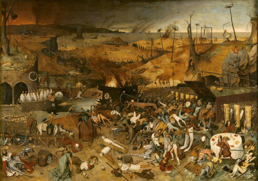 Cuadro que muestra en forma apocalíptica los estragos demográficos de la peste negra en el siglo XIV