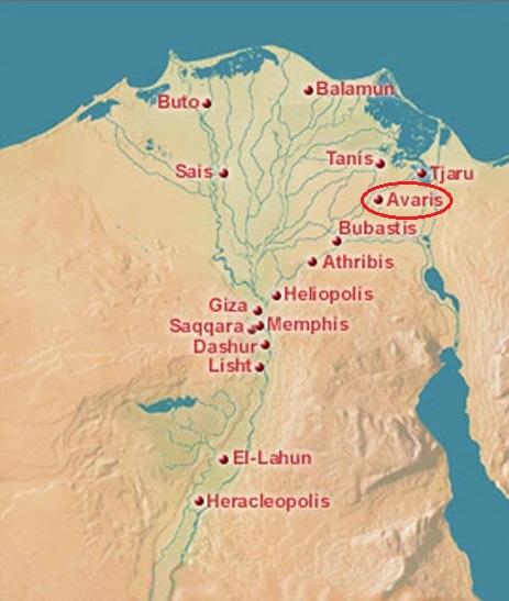 Localización de Pi-Ramsés, una de las construcciones de Ramsés II