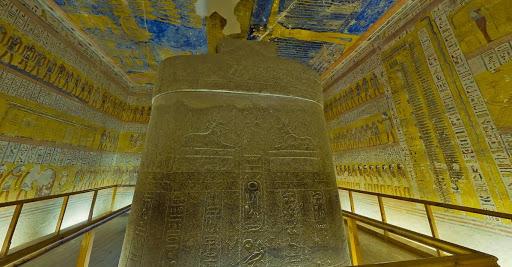 Tumba de Ramsés IV, decorada con escenas del Libro de las Cavernas