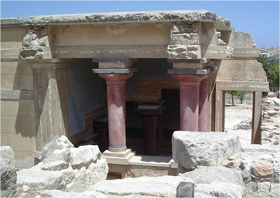 Una de las cámaras reales del palacio de Cnosos, epicentro de la cultura minoica