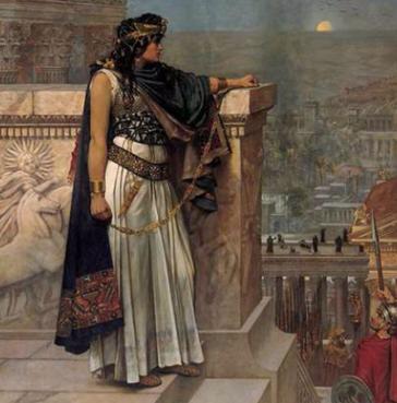 La última mirada a Palmira de la reina Zenobia de Palmira, (Herbert Schmalz)