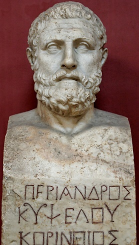 Busto de Periando, hijo y sucesor del tirano Cípselo de Corinto, protagonista de las tiranías griegas