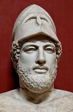Busto de Pericles, figura central de la democracia ateniense