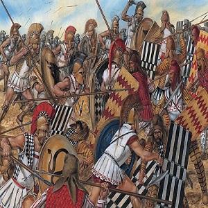 La batalla de Maratón (490 a.C.): lucha entre atenienses y persas