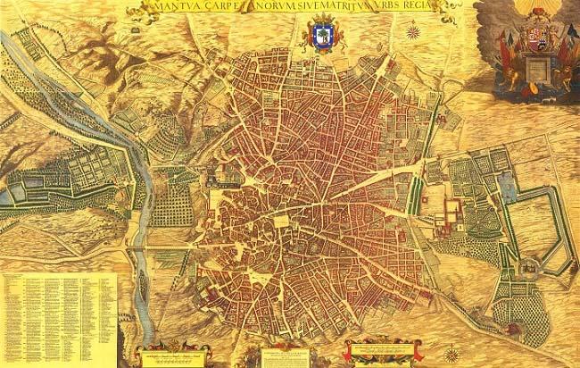 Plano de Madrid a mediados del siglo XVII, por Pedro Teixeira. En esta ciudad vivía Eleno de Céspedes