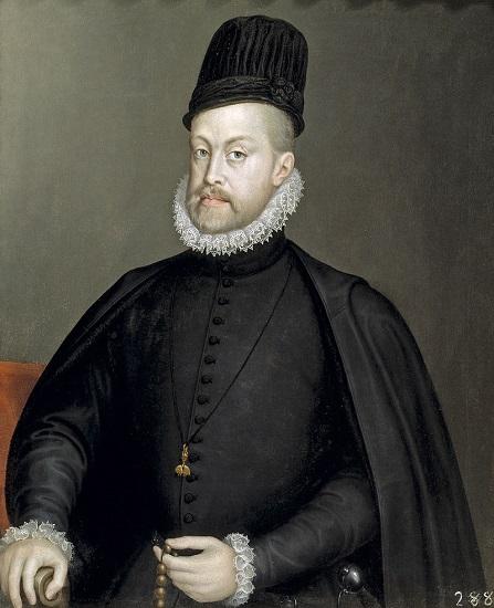Retrato de Felipe II hecho por Sofonisba Anguissola, muchos años antes del testamento de Felipe II