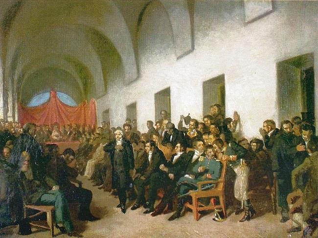Cuadro sobre el Cabildo Abierto de Buenos Aires que dio paso a la revolución de mayo