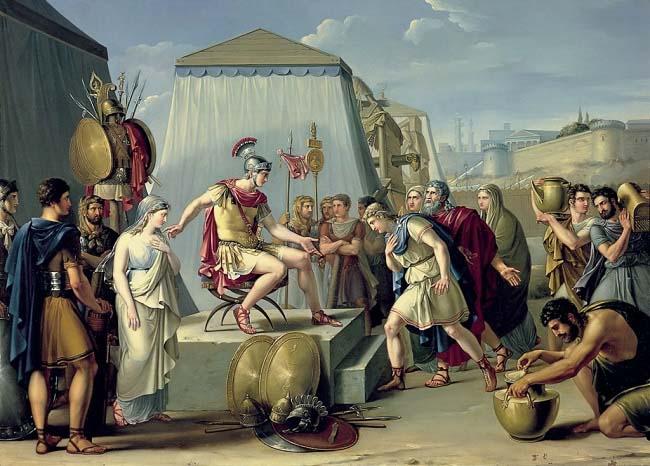 Publio Cornelio Escipión Africano sirviendo como pretor, una de las magistraturas romanas, en un cuadro de Federico de Madrazo hecha a mediados del siglo XIX