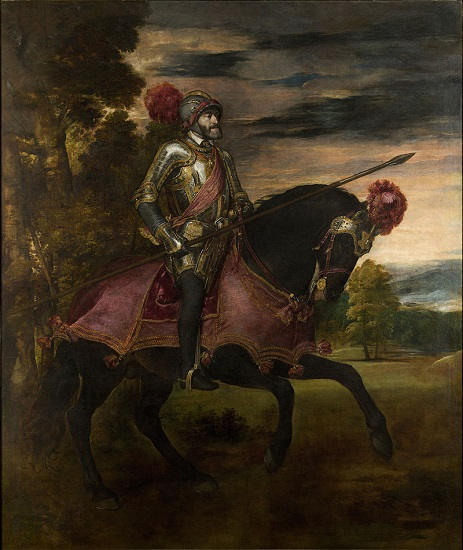 Carlos V a caballo en Mühlberg, obra de Tiziano