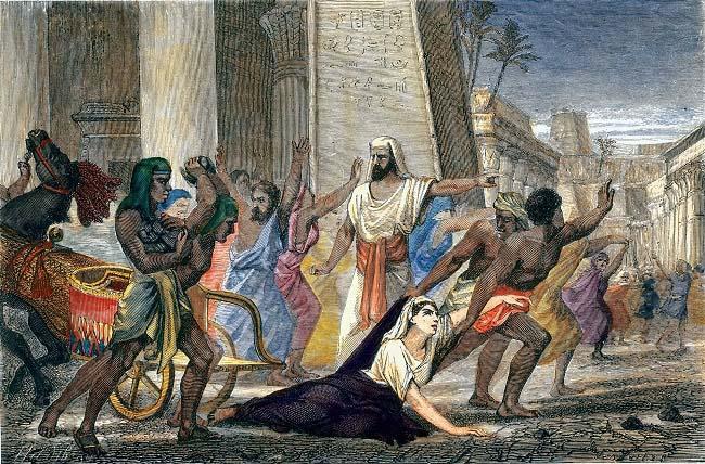 Grabado del siglo XIX en el que se representa la muerte de Hipatia de Alejandría