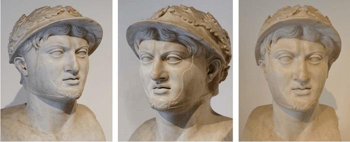 Busto de Pirro de Épiro encontrado en la villa de Papyri en Herculano