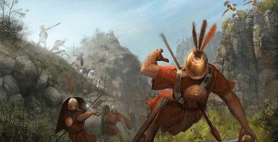 Ilustración que recrea la batalla de las Horcas Caudinas, durante la segunda de las Guerras Samnitas