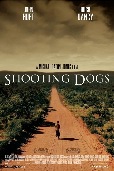 "Póster en inglés de la película ""Disparando a perros"""
