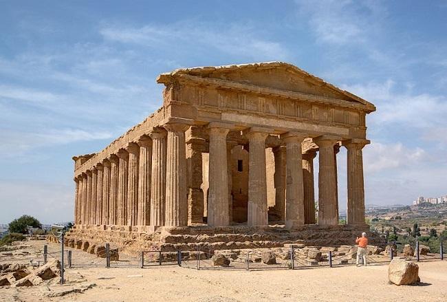 Estado actual del Templo de la Concordia, construido en Agrigento, foco de las batallas terrestres de la Primera Guerra Púnica