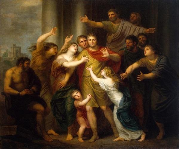 Marco Atilio Régulo vuelve a Cartago, obra de finales del siglo XVIII sobre el combatiente en batallas terrestres de la Primera Guerra Púnica