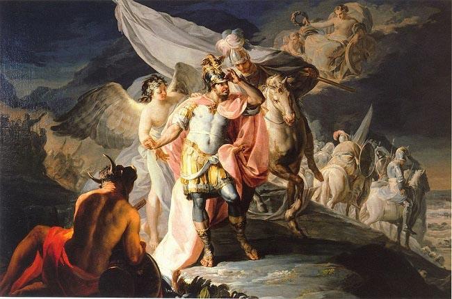 Aníbal vencedor contempla por primera vez Italia desde los Alpes, obra de Goya sobre la segunda guerra punica