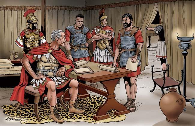 Ilustración que imagina a Quinto Fabio Máximo, que fue dictador antes de la batalla de Cannas