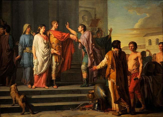 La clemencia de Escipión, de Nicolas-Guy Brenet (1788). Este general romano fue quién ganó la batalla de Zama