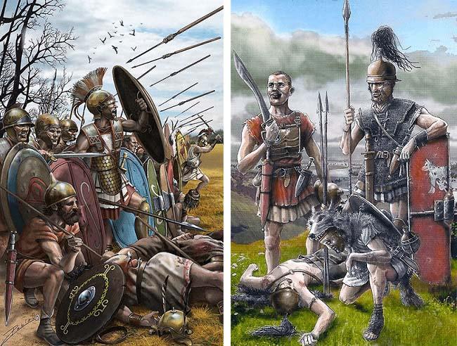 Soldados de ambos bandos en la batalla de Ilipa, una de las grandes batallas de Escipión el Africano