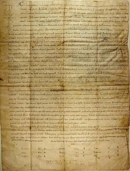Donación del Cid Campeador a la catedral de Valencia y el obispo Jerome de 1098