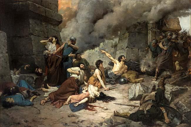 Numancia, obra pintada por Alejo Vera en 1881. Esta ciudad fue la gran conquista de Escipión Emiliano tras Cartago en la tercera guerra púnica