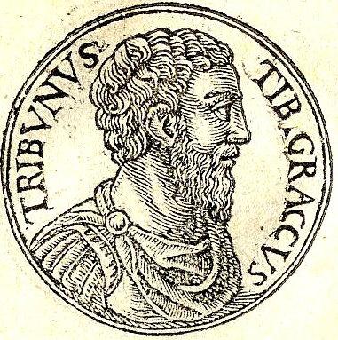 Tiberio Graco en Promptuarii Iconum Insigniorum, un libro hecho por Guillaume Rouillé en el siglo XVII