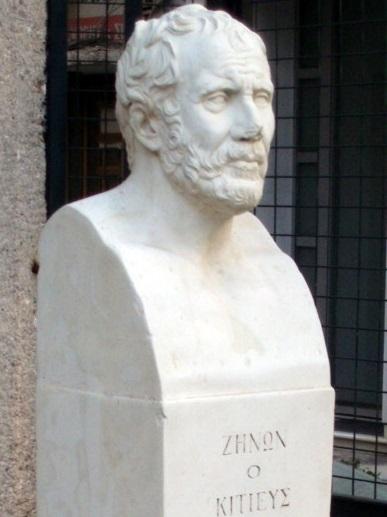 Busto de Zenón de Atenas, fundador del estoicismo. Una de las consecuencias de las guerras púnicas fue la introducción de la filosofía helenística en Roma