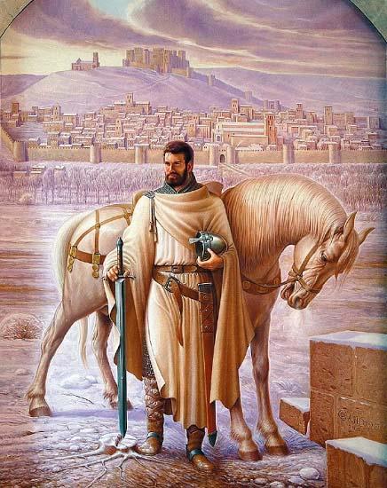 Obra sobre Rodrigo Díaz de Vivar, el Cid Campeador, hecha por Cándido Pérez Palma