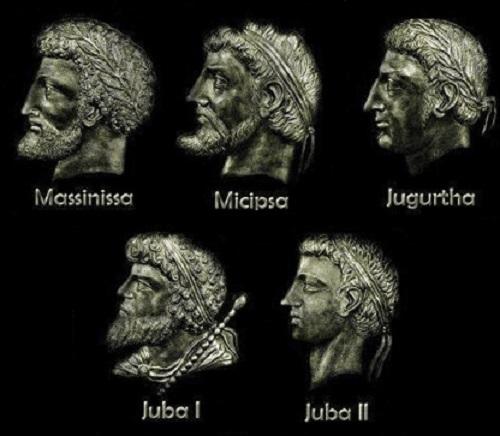Algunos de los reyes númidas más famosos, incluyendo el que originó la guerra de Yugurta