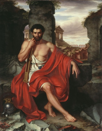 Obra de John Vanderlyn hecha a principios del siglo XIX en la que se retrata a Cayo Mario, el gran enemigo de Marco Licinio Craso