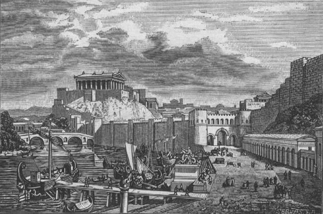 La ciudad de Roma durante el final de la república, en la guerra civil romana