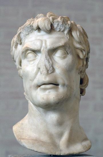 Busto romano atribuido a Lucio Cornelio Sila, uno de los bandos en la guerra civil romana