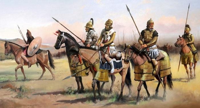 Ilustración que recrea a la caballería del reino del Ponto