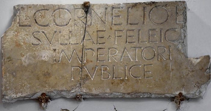 Inscripción en honor de Lucio Cornelio Sila