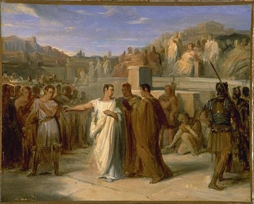 Cuadro de Pierre Nicolas Brisset (siglo XIX) sobre Lucio Cornelio Sila, la persona al frente de la dictadura de Sila