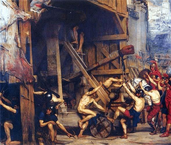 Ilustración sobre el asedio de Atenas por parte de Sila durante la primera guerra mitridática