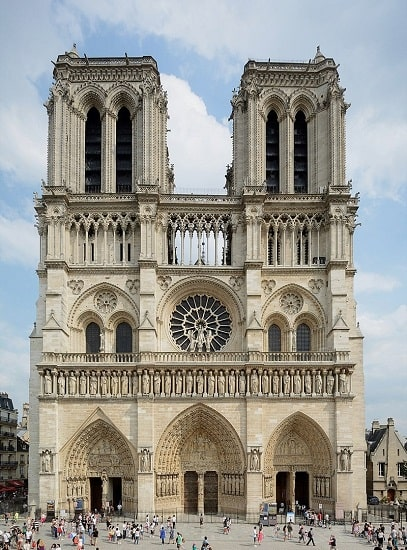 Fachada occidental de la catedral de Notre Dame de París