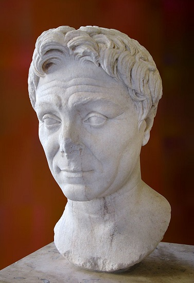 Busto de Pompeyo, uno de los rivales en la guerra de César contra Pompeyo, conservado en el Museo del Louvre