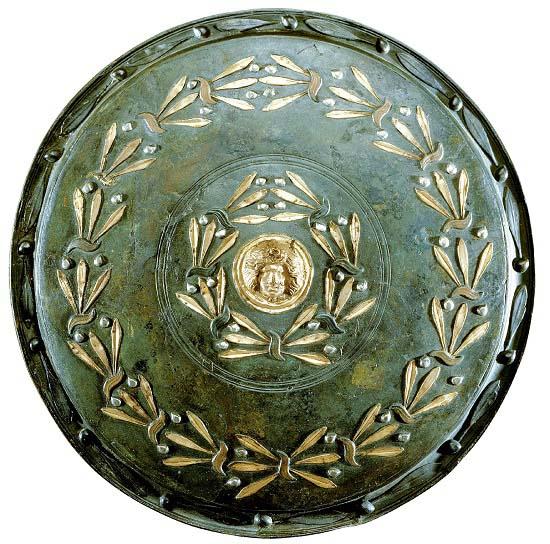 Escudo de un gladiador procedente de Pompeya, datado del siglo I d.C., posterior a la rebelión de Espartaco