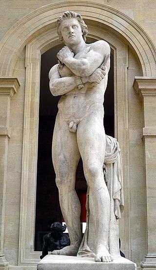 Estatua de Espartaco hecha en el siglo XIX y expuesta actualmente en el Museo del Louvre de París