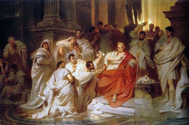 """""""La muerte de César"""", cuadro sobre el protagonista del libro de Adrian Goldsworthy"""