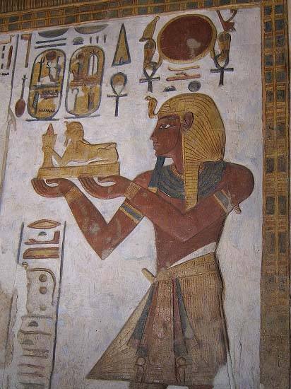 Ramsés III oferente. Templo de Jonsu, Karnak WC