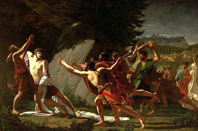 La muerte de Cayo Graco, pintura hecha por François Topino-Lebrun que refleja la violencia en la crisis de la república